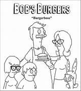 Burgers Coloring Bobs Bob Burger Official Sumo Opera Veggietales sketch template
