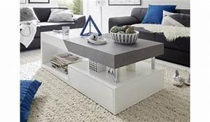 Table Grise Et Blanche : table basse contemporaine blanche grise pour table basse ~ Teatrodelosmanantiales.com Idées de Décoration
