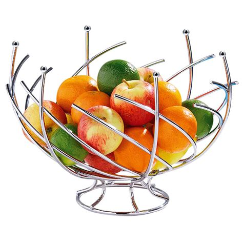 corbeille 224 fruits design spirales en m 233 tal de la table cuisine