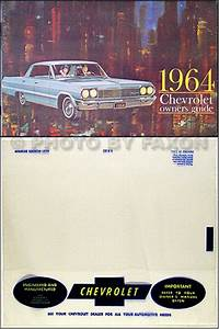 1964 Chevrolet Car Reprint Owner Manual Impala  Ss