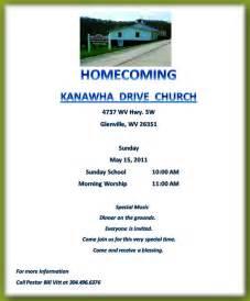 Church Homecoming Invitations