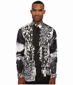 versace collection baroque graffiti silk shirt