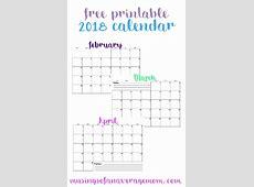 Musings of an Average Mom 2018 Horizontal calendars