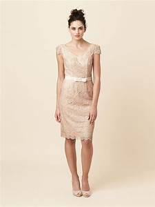 short champagne and lacy bridesmaid dress onewedcom With short champagne wedding dresses