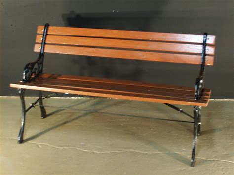 park bench wrought iron and wood 2181 props