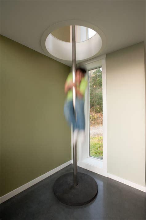 fire pole   floor   floor loft modern hall seattle   nelson