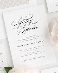 Timeless script wedding invitations wedding invitations for Wedding invitations for 1