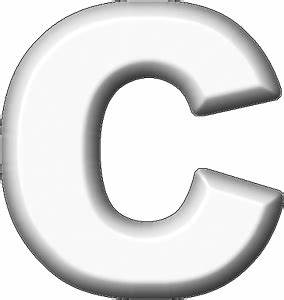 presentation alphabets white refrigerator magnet c With white letter magnets