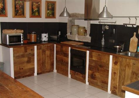 cuisine en bois brut atelier ferrière