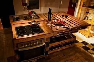 Meuble De Cuisine En Palette : id es originales de meubles en palettes ~ Dode.kayakingforconservation.com Idées de Décoration