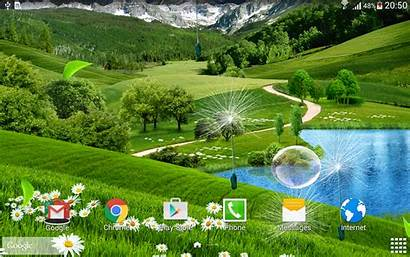 Summer Landscape Google Animated Leaves Falling Mountain