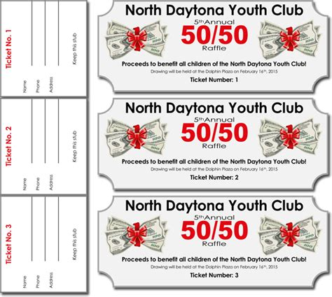 50 50 raffle tickets template 20 free raffle ticket templates with automate ticket numbering
