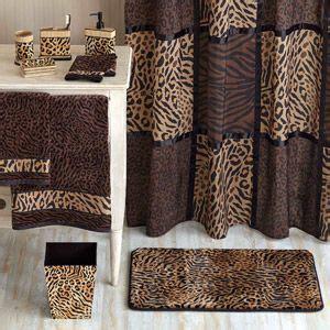 homes  gardens animal print bathroom collection