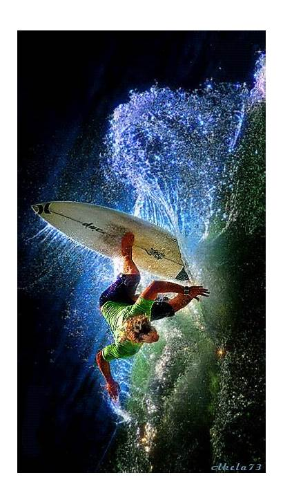 Surfer Animated Surfing Animation Magical Gifs Waters