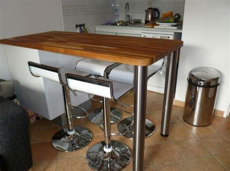 fabriquer table haute cuisine sur le tables pour de cuisine fabriquer table bois haute large
