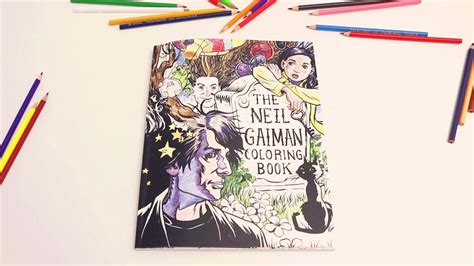 The Neil Gaiman Coloring Book neil gaiman coloring book time lapse