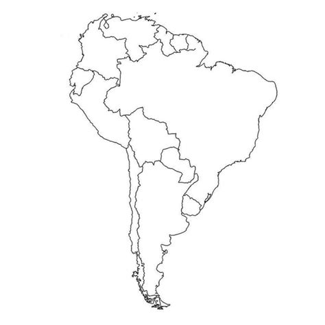 blank map  south america