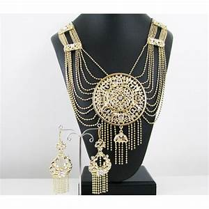 Achat parure bijoux orientaux berberes plaque or for Bijoux orientaux mariage