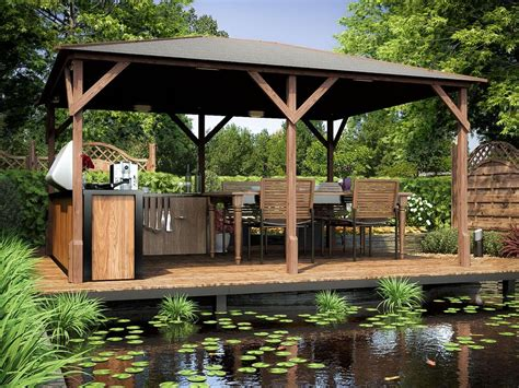 Wooden Gazebo Kits Permanent Garden Structure Shelter