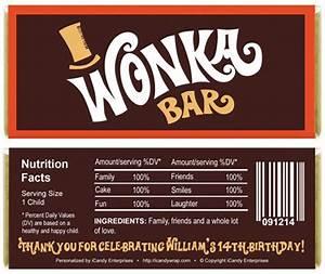 willy wonka inspired birthday candy bar wrappers With willy wonka candy bar wrapper template