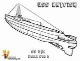Submarine Coloring Uss War Batfish Navy Boss Printable Yescoloring sketch template