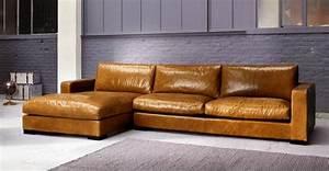 Canape Angle Marron : canape cuir marron vintage ~ Teatrodelosmanantiales.com Idées de Décoration