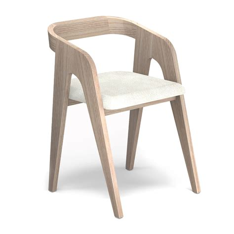 chaise bois blanc chaise chene blanc design scandinave salomé savelon