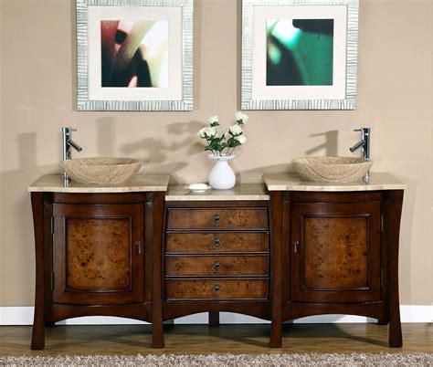 72 double sink vanity marble top 72 quot modern bathroom travertine stone top double vessel
