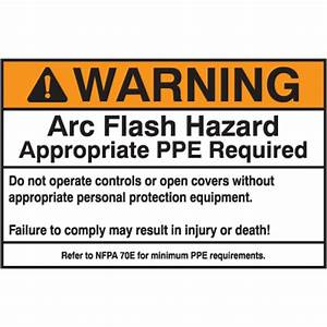 Nec arc flash protection labels warning arc flash hazard for How to read arc flash labels