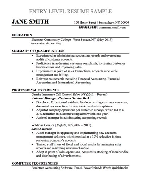 Exle Of Work Resume by Resume Pic
