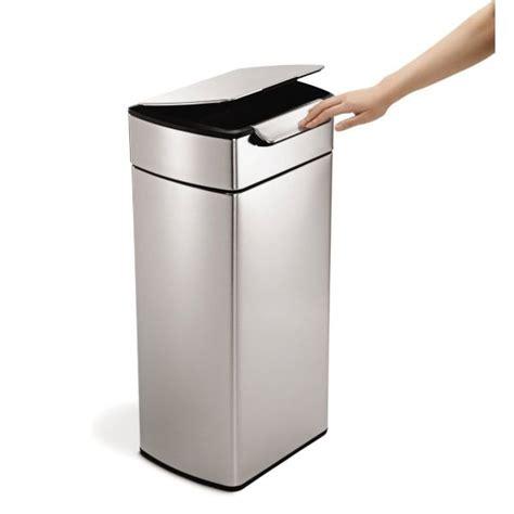 poubelle de cuisine rectangulaire poubelle cuisine smplehuman touch 30 l cuisine