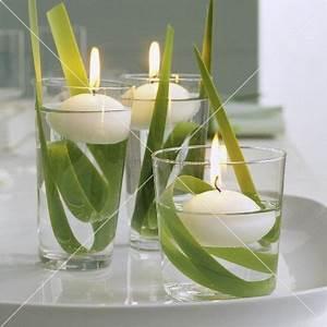 Frühlingsdeko Im Glas : fr hlingsdeko mit drei schwimmenden kerzen in wassergl sern living4media deko kerzen ~ Orissabook.com Haus und Dekorationen
