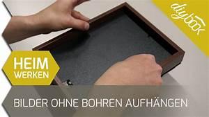Wandbefestigung Ohne Bohren : bilderrahmen ohne bohren aufh ngen youtube ~ Watch28wear.com Haus und Dekorationen