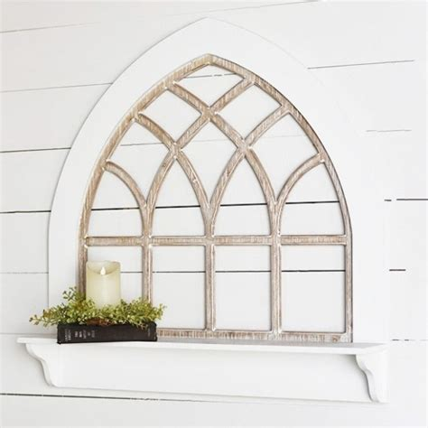Old window panes make beautiful decorations. Arched Window Pane Wall Decor | Antique Farmhouse