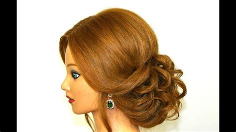 romantic hairstyle  long medium hair easy updo