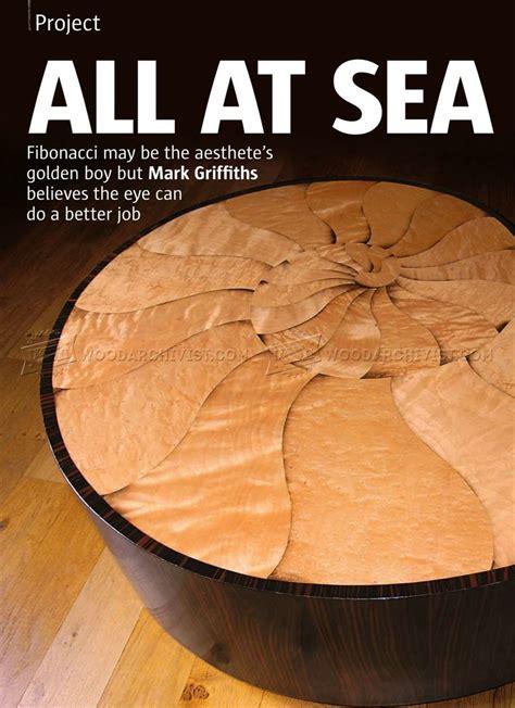 spiral table plans woodarchivist