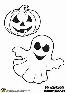 Citrouille Halloween Dessin : coloriage fantome et citrouille sur ~ Melissatoandfro.com Idées de Décoration