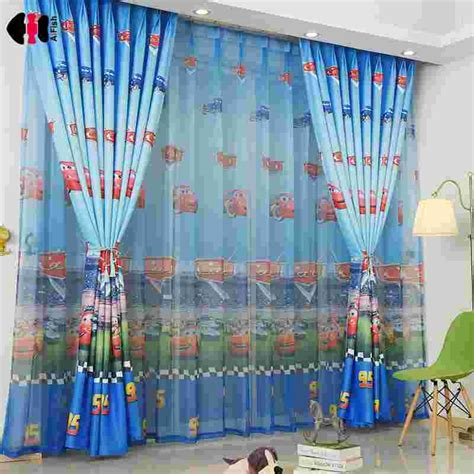 high quality car printed cotton linen blackout curtain