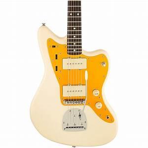 Squier J Mascis Jazzmaster Electric Guitar Vintage White