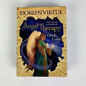 The concept of the deck, which comes in a sturdy box with a book. Angel Therapy Oracle Cards Doreen Virtue Hay House Divination Metaphysical   eBay
