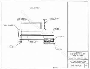 Bbq Smoker Schematic : 24 dia by 67 reverse flow smoker square firebox right 1 ~ A.2002-acura-tl-radio.info Haus und Dekorationen