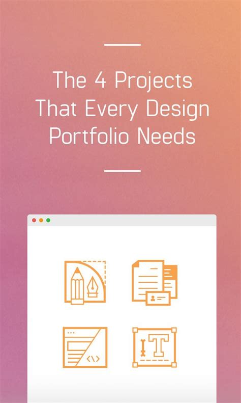 12355 graphic design portfolio book exles the 4 projects that every design portfolio needs design