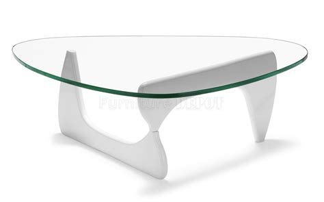 Modern Glass Top Coffee Table With Unique Base From
