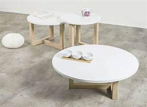 Table Basse Gigogne Scandinave : table basse scandinave ronde achatdesign ~ Voncanada.com Idées de Décoration