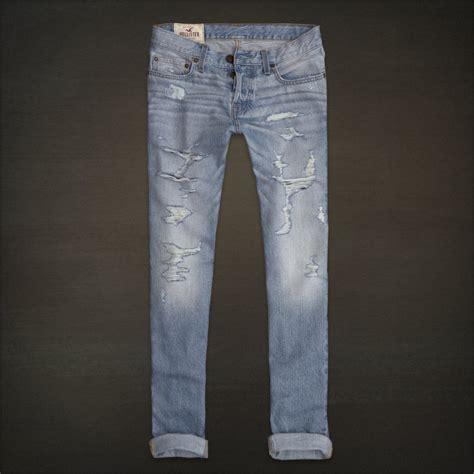 light wash skinny jeans mens hollister hco men 39 s low rise skinny fit jeans destroyed