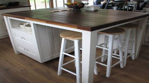 pretty standing kitchen island  seating ideas