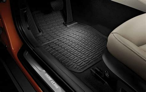 bmw x1 floor mats bmw genuine all weather rubber front floor mats black e84