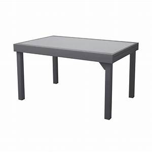 Table De Jardin Extensible Aluminium : table de jardin extensible aluminium double plateau verre 135 270x90cm modena gris anthracite ~ Melissatoandfro.com Idées de Décoration