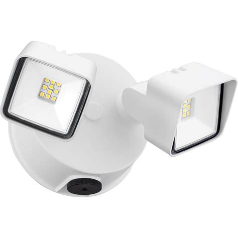 lithonia lighting white adjustable head integrated led square wall mount flood light with