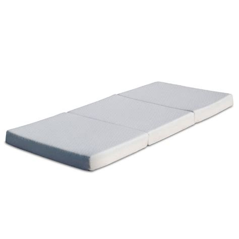 tri fold mattress 4 quot tri fold memory foam mattress with storage bag bpm 4tm